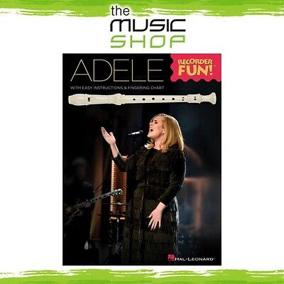 New Adele Recorder Fun! Music Book for Beginner Recorder with Fingering Chart