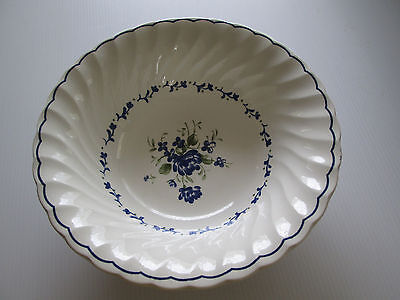 Churchill England Large Serving Bowl The Georgian Collection Blue & White Floral