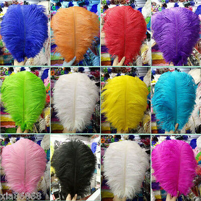 Wholesale!10-50-100 PCS Naturally OSTRICH FEATHERS 6-24 inches/15-60cm wedding *