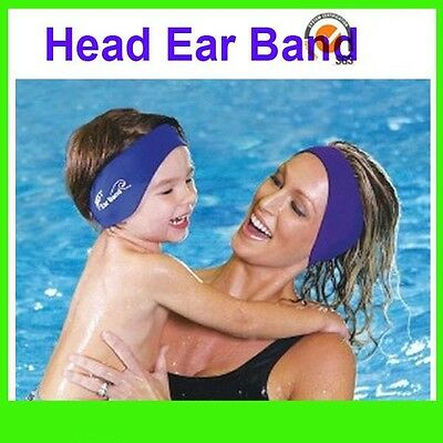 Swimming Ear Head Band Neoprene Wet suit Aqua Head Bands S M L Kids Adult sizes