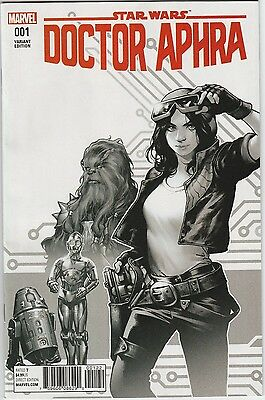 Star Wars Doctor Aphra #1 Black & White Sketch Variant Retailer Incentive VF/NM