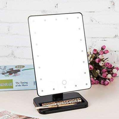 Portable 20 LED Light Touch Screen Beauty Stand Makeup Mirror Bathroom Cosmetic