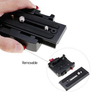 Sliding Quick Release Plate Tripod Adapter f. Manfrotto 501HDV/ MVH500AH/ 701HDV