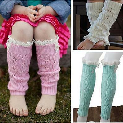 Cute Girl Baby Infant Kid Toddler Warm Tight Crochet Lace Leg Warmers Boot Cover