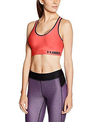 Under Armour Mid Solid Sport Bra - Rosa (Brilliance) - S