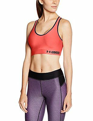 Under Armour Mid Solid Sport Bra - Rosa (Brilliance) - M