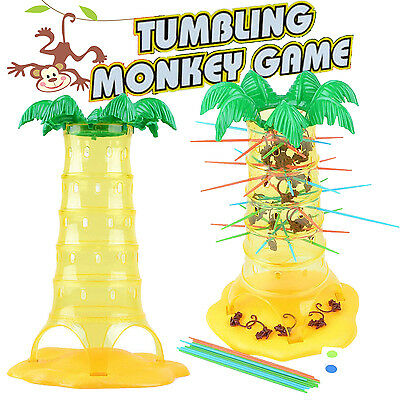 New Kids Tumbling Monkey Pull Out Stick Family Game Children Fun Play Toy Age 3+