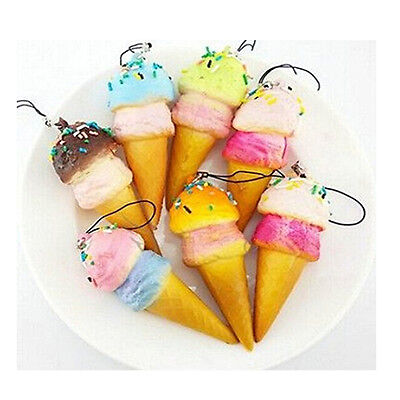 New Soft Ice cream Squishy Cellphone Kawaii Charms Straps Gifts HS