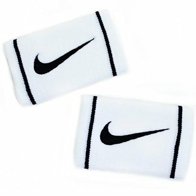 NIKE Dry-Fit Doublewide Wristbands Size: 13.3cm x 8.5cm , White x Black