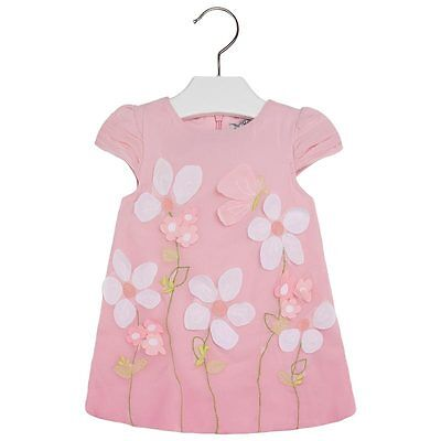 d3f5df2fe MAYORAL BABY GIRL 3M-24M Embroidered Organza Overlay A-Line Dress ...