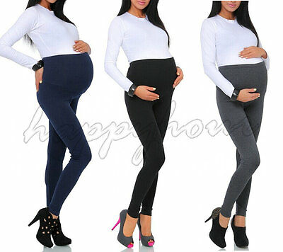 Thick Comfortable Maternity Cotton Leggings Full Ankle Length PREGNANCY UK 8-24