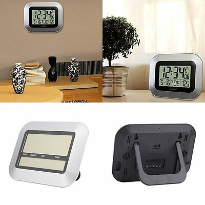 NEW Digital LCD Home Office LUcor Wall Alarm Clock Thermometer temperature LU