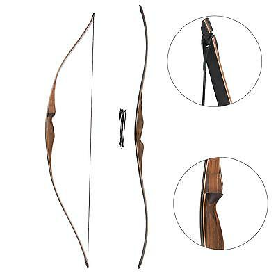 20-35lbs Handmade Archery Recurve Bow Traditional Horsebow Longbow Right Hand