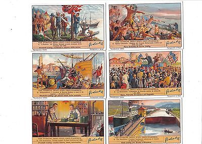 History of the USA.Liebig set F1383.Issued 1938.Full set of 6.
