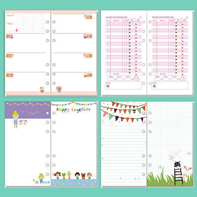A5/A6 Cartoon Colourful Plan Diary Insert Refill Schedule Organiser 40Sheet Note