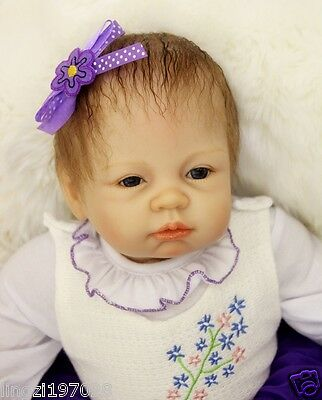 """Simulation 22"""" Real life Newborn Reborn baby doll Soft Silicone vinyl Cute gifts"""