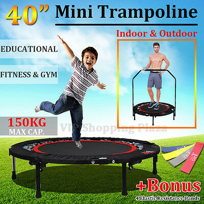 "40"" Mini Trampoline Adult Workout Home Gym Cardio Exercise Kids Educational Toy"