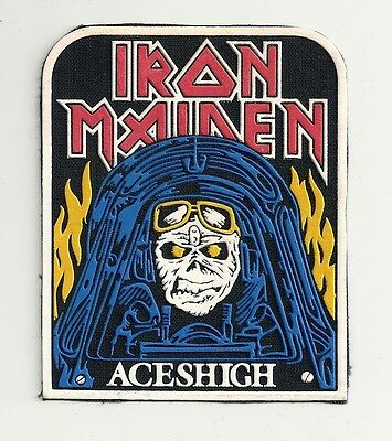 IRON MAIDEN Aces High synthetic rubber patch RARE!!!