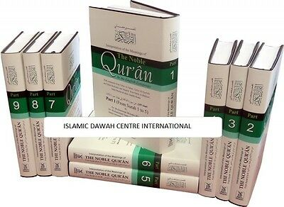 The Noble Quran - Arabic/English (9 Vols. Set with full Tafsir) HB - Darussalam