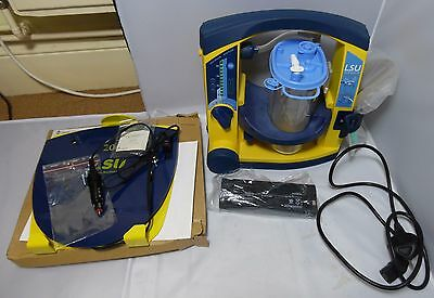 Laerdal Suction Unit. LSU SERRES. With Wall Bracket DC Power cord, +New Battery