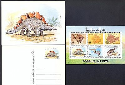 Libya 1996 -  Fossils and Prehistoric Animals