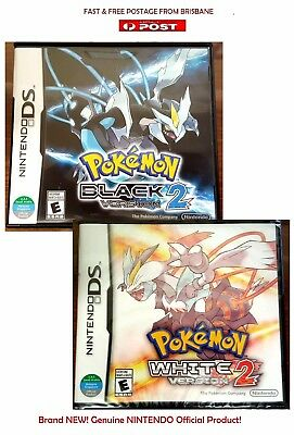 Pokemon Black and White Version 2 Bundle Nintendo DS 3DS Brand New * AU STOCK*