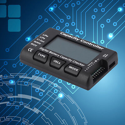 RC 7 Function Digital Voltmeter Battery Tester For LiPo LiFe Li-ion Nicd NiMH FG
