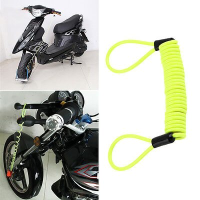150cm Security Bike Scooter Motorcycle Motorbike Disc Lock Reminder Cable FG