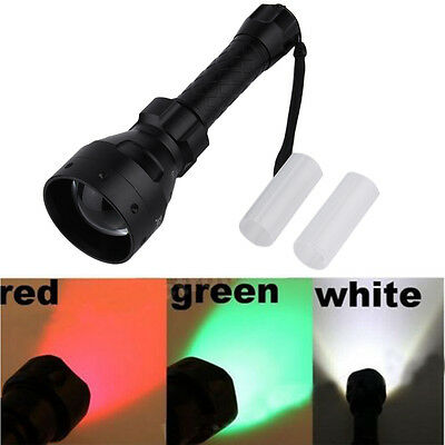 T67 LED hunting light torch lamp NV nightvision red green XML IR 3 Mode FG