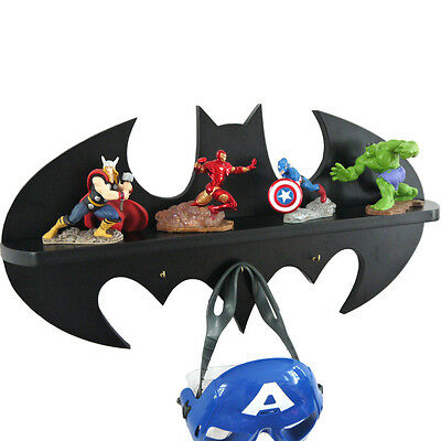 Lemo handmade - Batman logo Wooden shelf / hook children's bedroom Home Décor