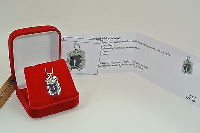 18ct gold pendant Egyptian Scarab beetle with COA Provided no24