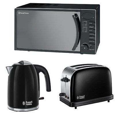 Russell Hobbs 17 L Digital Microwave  Kettle and Colours Plus  Toaster Bundle