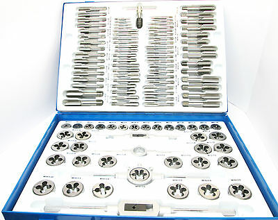 Professional 110 Pc Metric Tap and Die Set Alloy Steel Tap Wrench New TZ  TP096