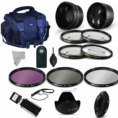 Wide Angle Lens + Telephoto Zoom Lens + Pro Kit For Sony Alpha Rx1R