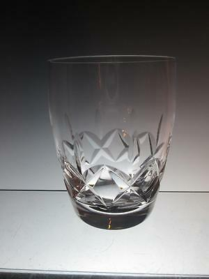 STUART Crystal - CARLINGFORD Cut - Barrel Tumbler Glass / Glasses (signed)