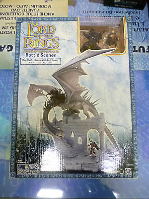 Lord of The Rings Battle Scenes OSGILIATH RUINS WITH FELL BEAST - NUOVO