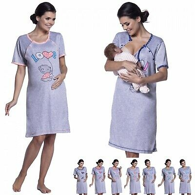 Zeta Ville - Women's Maternity Nursing Nightdress Breastfeeding Nightie - 141c