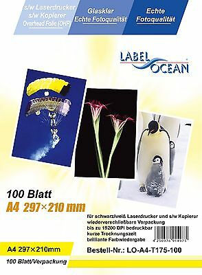10 A4 sheets OHP Acetate film laser jet and copier printers black and while only