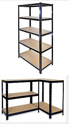 5 Tier Boltless Heavy Duty Metal Shelving Shelves Storage Unit Garage Home