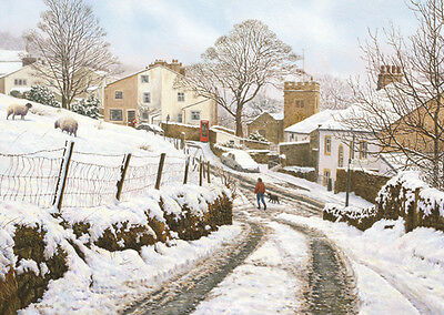 Puzzle Newchurch-in-Pendle, 1000 Teile, England, Winter, Landschaft, Jumbo