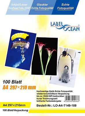 10 sheets Quality OHP  INKJET or LASER Colour A4 CLEAR ACETATE Transparent