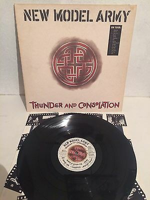 New Model Army - Thunder And Consolation LP Vinyl 1c 064791317 1DMM EX/VG+