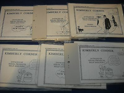 Miniature: lot of 6 issues of Kimberly Corner - 24 pages ea. of projects & ideas