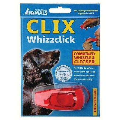 Clix Whistle & Multi Clicker Easy Dog Puppy Training Volume & Tone Control