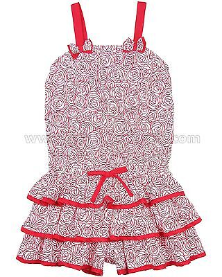Kate Mack Girls' Romper Regatta Roses, Sizes 4-12
