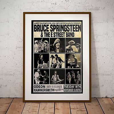 Springsteen 1975 First Ever UK Concert Poster Print In Two Sizes New Exclusive