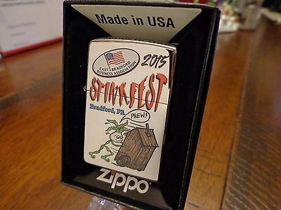 Stinkfest Bradford Pa Phew Outhouse Zippo Lighter Limited Edition 2015 99/100