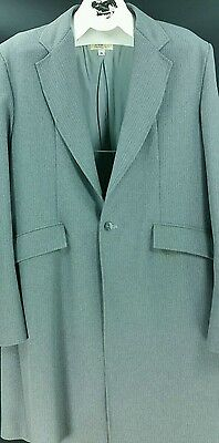 Reed Hill Mens Saddleseat 3 Pc Suit Grey Pin Polyester size 46 - USA