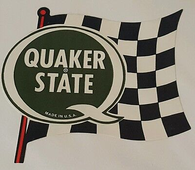 1970s Quaker State Sticker Decal New Vintage