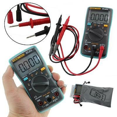 Digital LCD Multimeter Backlight AC/DC Auto Range Ohm Ammeter Temperature Tester